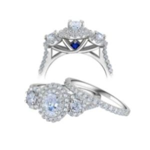 Jewelry - CERTIFIED 1.8Ct Oval Three Stone Diamond Ring